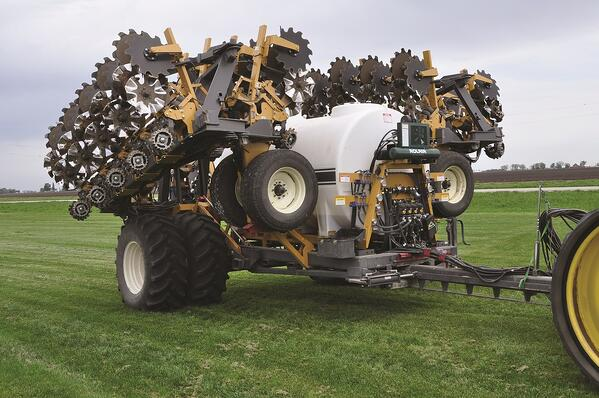SoilWarrior 5000 strip tillage and nutrient placement liquid fertilizer system