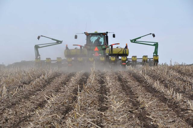Planting into strip till zones