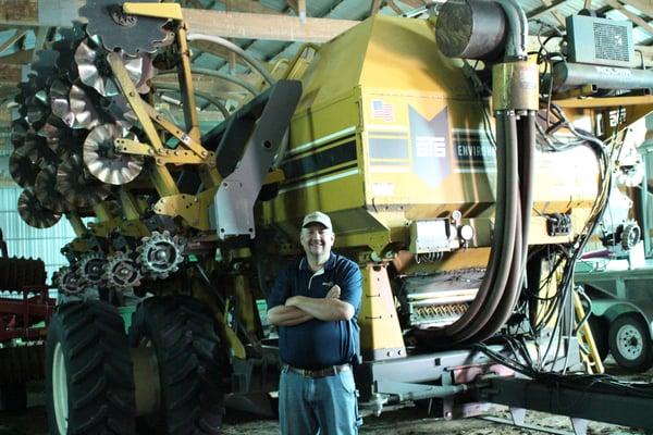 Brad Spinler with his Soil Warrior 4530 SXD